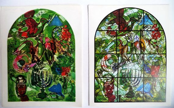 Pair 60s Original Marc CHAGALL prints ASHER by MushkaVintage3