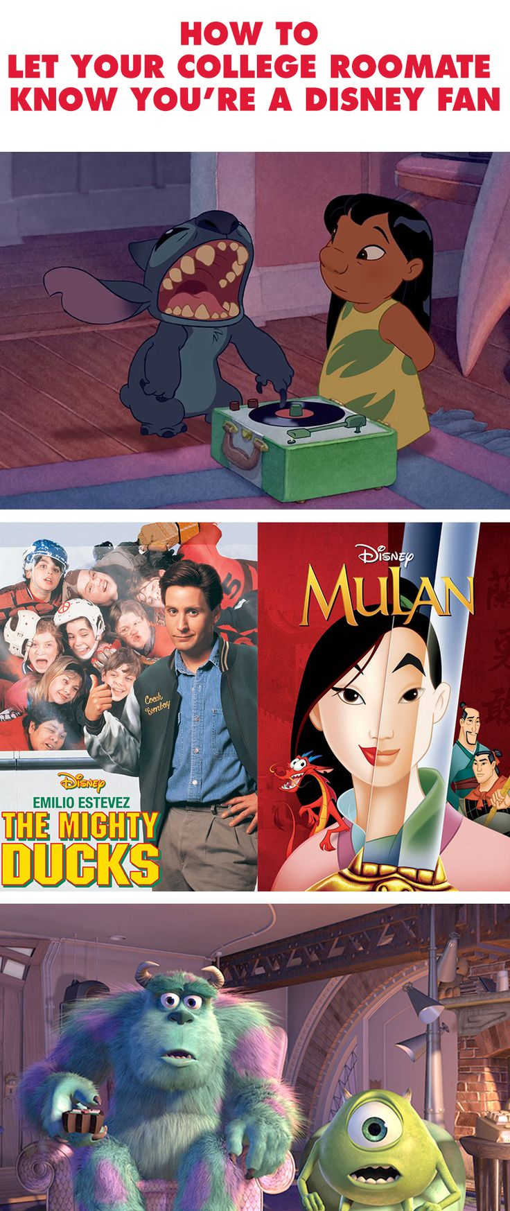 From your posters to your choice in music here is the ultimate guide to letting your college roommate know you're a Disney fan. If your Disney dorm room decor doesn't give it away on day one.
