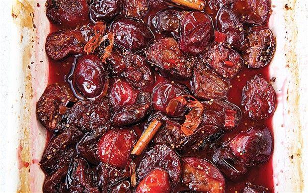 Camilla's roast plum and liquorice chutney