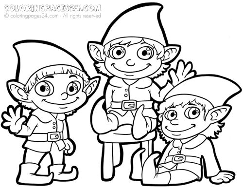 elf coloring pages for adults - Coloring Pages Elves