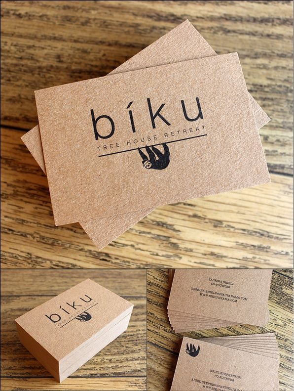 33 best duplex and triplex business cards images on pinterest if you are looking for a natural or recycled look kraft board is making a comeback here is a nice example of a business card for you reheart Choice Image