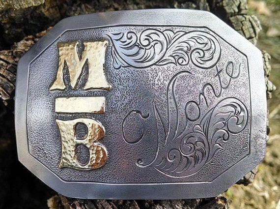 Custom Belt Buckle Mens Belt Buckle Metal by BluegrassEngraving