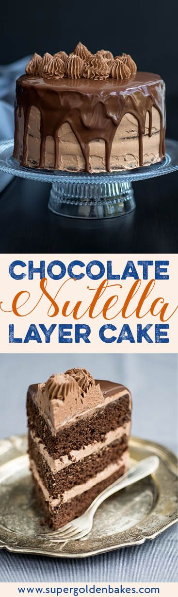 With three fudgy layers of chocolate sponge, whipped Nutella filling and glossy rich chocolate glaze, this really is THE ultimate chocolate cake.