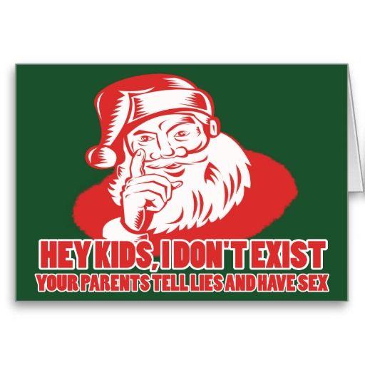 Santa Doesnt Exist Holiday Card Random