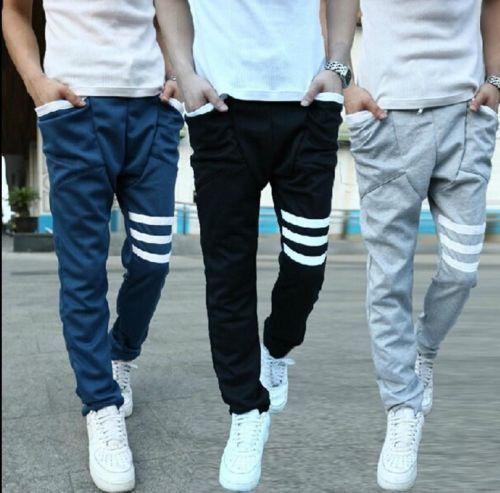 Fashion New Mens Sports Gym Jogger Dance Slacks Harem Baggy Sweat Pants Trousers. Good fr Spring and Summer
