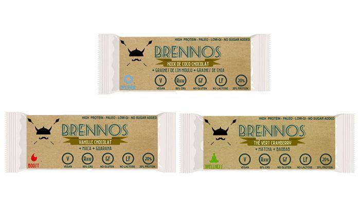 Brennos lance ses toutes premières barres énergétiques 100% paléo (niveau 1 uniquement à cause de la présence de riz brun) !