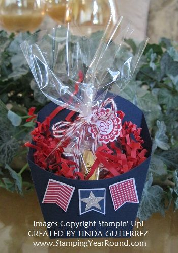 """Love Stampin' Up!'s """"Fry"""" box. It's the perfect size. Not too big and not to small. www.StampingYearRound.com"""