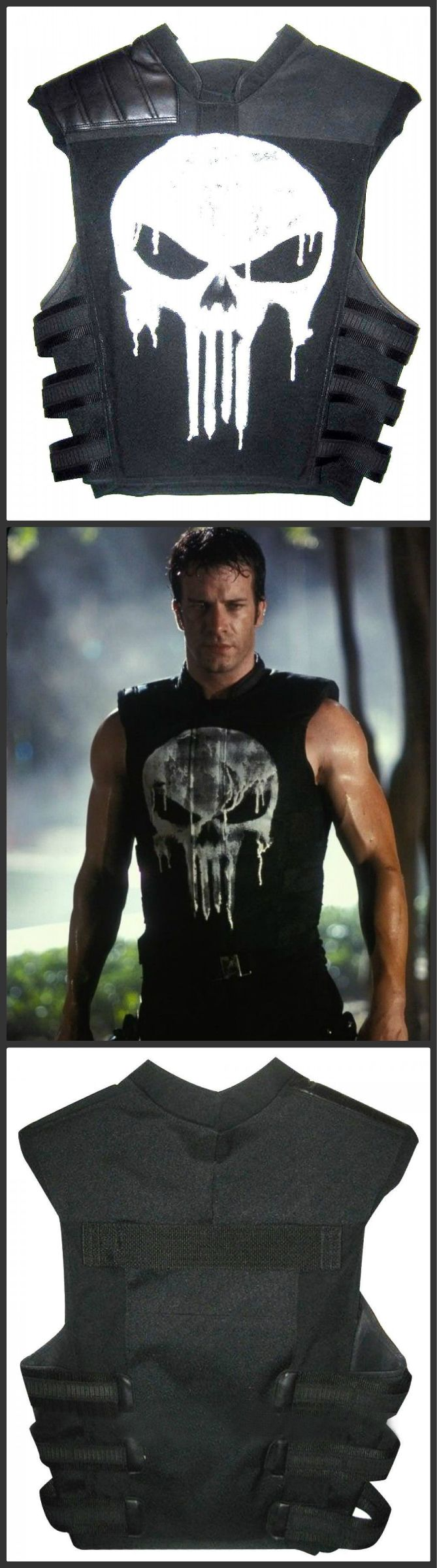 Inspire from movie Punisher, our online store DURV offers you Punisher Black Leather Vest carries by Thomas Jane.