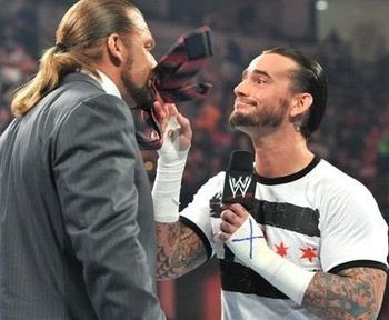 Mmm Cm Punk and Triple H