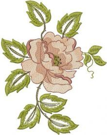 Rose free flower machine embroidery design. Machine embroidery design. www.embroideres.com