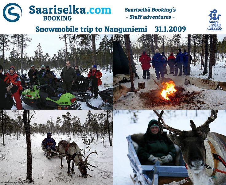 Snowmobiling to Nanguniemi 31 January 2009 | Saariselka.com #saariselka #saariselkabooking #staffadventure #saariselankeskusvaraamo