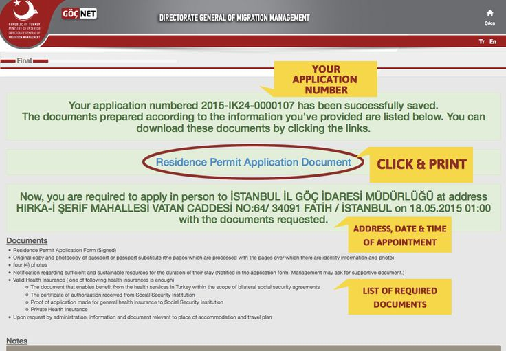How do I complete the Online Form for the Turkish Residence Permit ? in Visas / Permits / Passports