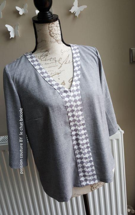 Patron de couture blouse Coquelicot // Histoire de coudre
