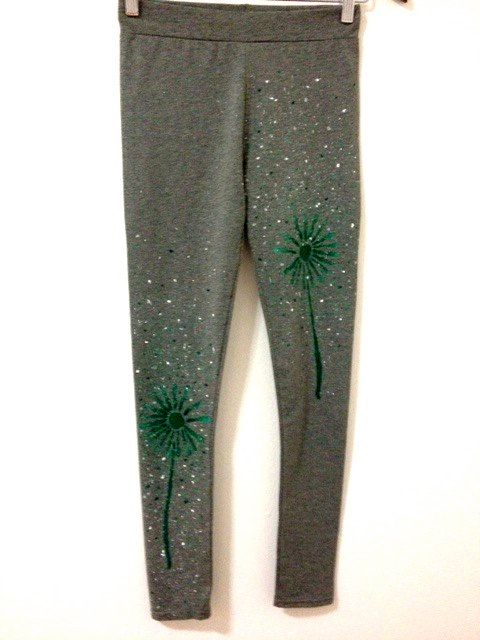 Grey leggings for women  Handmade cotton leggings  by COOLLeggings