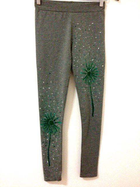Grey leggings for women  Handmade cotton leggings  by COOLLeggings