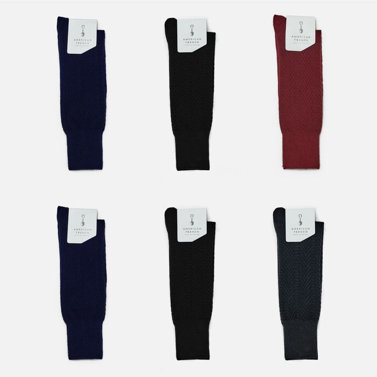American Trench Socks - Herringbone - 6 pack