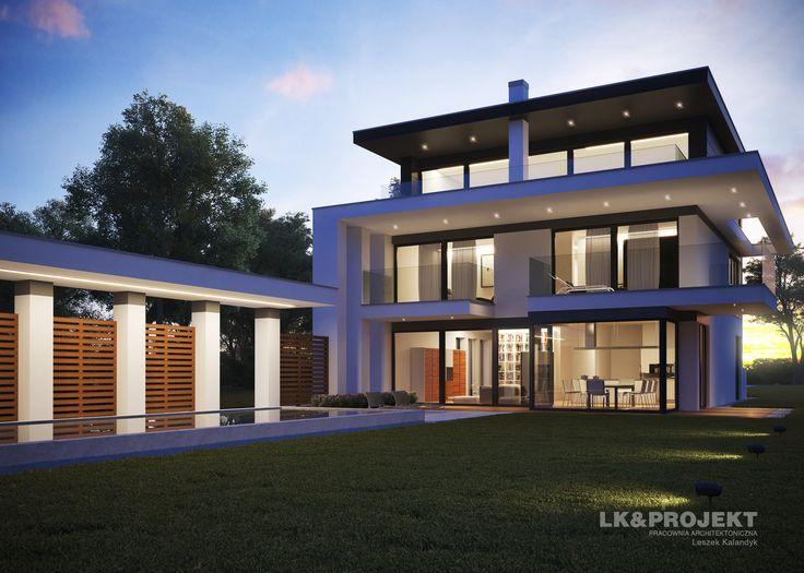 LK&1280 - rezydencja w nowoczesnym stylu #lkprojekt #project #houseproject #house #modern #architecture #polisharchitecture #homesweethome #domjednorodzinny #singlefamilyhouse #exterior #build #dreamhome #dreamhouse http://lk-projekt.pl/lkand1280-produkt-9593.html