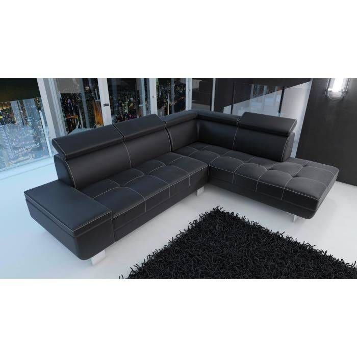 Canape Angle Simili Cuir Canape D Angle Moderne Daylon Simili Cuir Noir Design In 2020 Outdoor Sectional Sofa Home Decor Sectional Couch