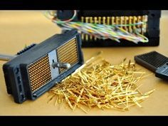 Gold Recycle from scrap components electronics. connectors Electronic circuit Boards computer parts. - YouTube