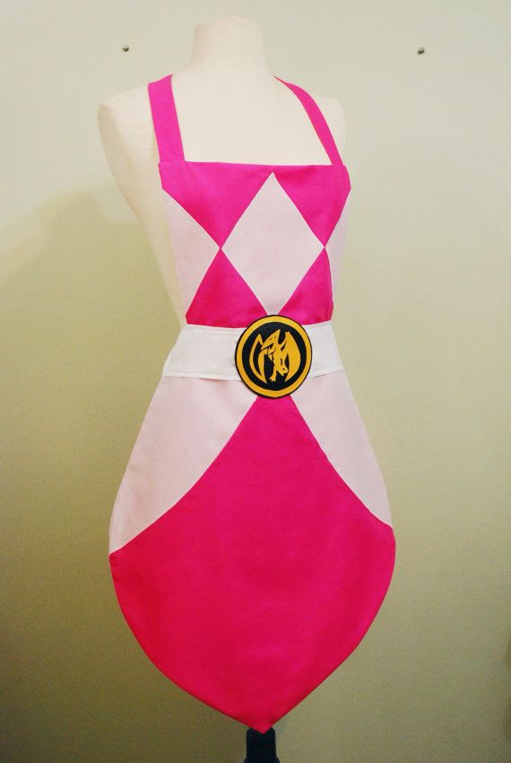 Hey, I found this really awesome Etsy listing at https://www.etsy.com/listing/191259960/pink-power-ranger-apron