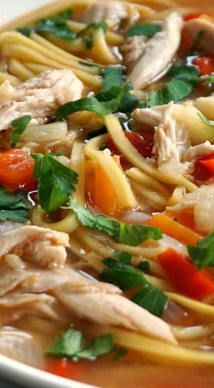 Home-made Chicken Noodle Soup ~ A healthy recipe for the whole family and the best natural remedy against cold and flu.
