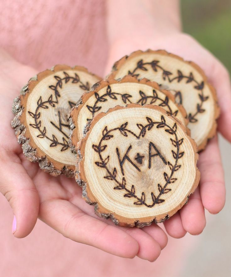Morgann Hill Designs Personalized Rustic Coaster - Set of Four | zulily