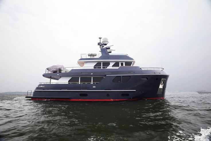 Interesting Bering 80 Veda - Steel expedition yacht underway