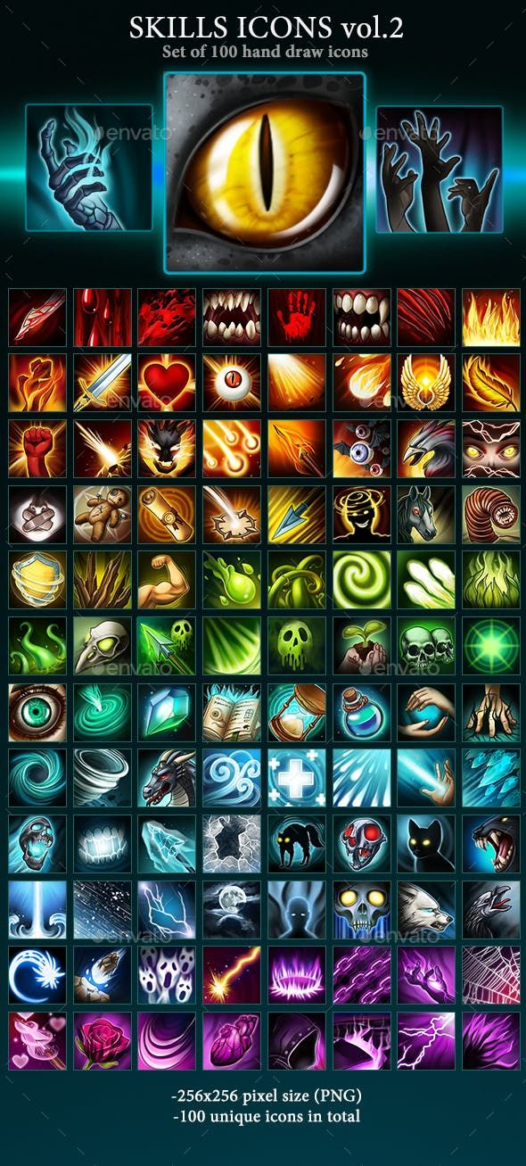 Skills Icons Vol 2 How To Draw Hands Icon Spaceship Art