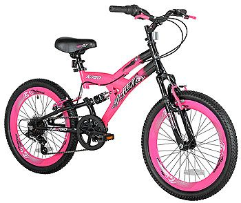 Girls 20 inch Avigo Air Flex Dual Suspension Bike