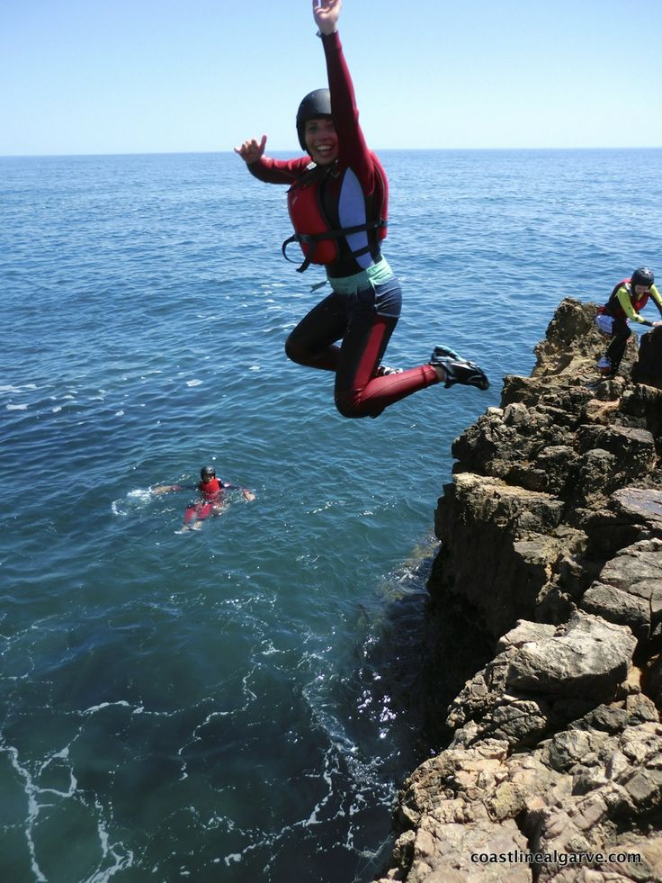 Looking for Cliff Jumping in safety? Then come explore the Coastline of the Algarve on a Coasteering session.