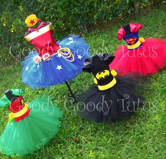 Have little superhero daughter who fights crime? Try these superhero tutus. Click image for more info!
