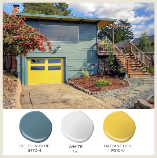 Color Of The Month: Sunny Yellow! A Split-level Ranch Goes