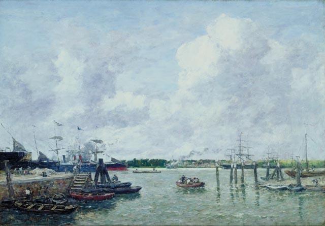 Eugène Boudin - Port de Rotterdam (1880)