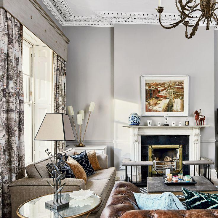 Die besten 25+ grau gemusterte Vorhänge Ideen auf Pinterest - wohnzimmer ideen vorhange