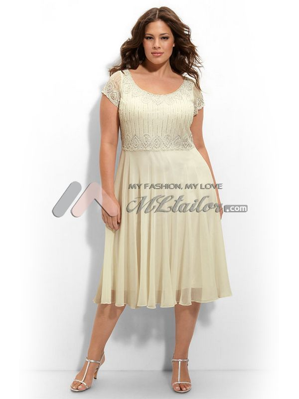 Ladies Black and White Tea Length Evening Dresses