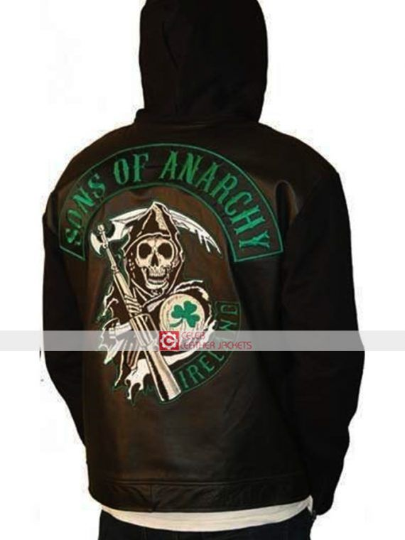 Sons of Anarchy Ireland Fleece Highway Hoodie Jacket #SonsofAnarchy #Ireland #Fleece #Highway #Hoodie #Jacket
