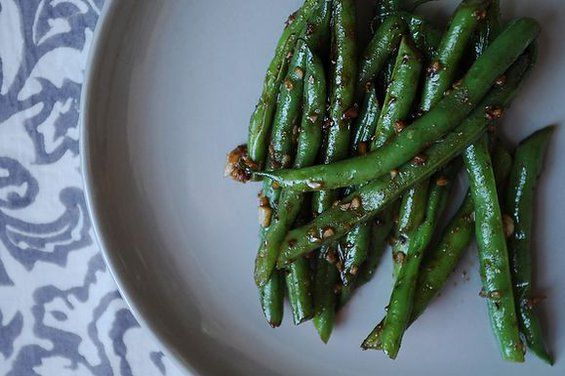 Asian Garlic Green Beans - made these 7/26/12, so good!  I didn't have any ginger powder so I left it out but it was still delicious.