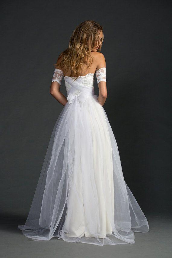 Boho lace wedding dress magical soft dreamy by Graceloveslace