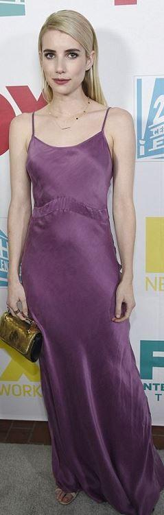 Emma Roberts: Shoes – Kurt Geiger  Purse – M2malletier  Dress – Awaveawake  Necklace – Loren Stewart  Earrings and necklace – Jennifer Meyer