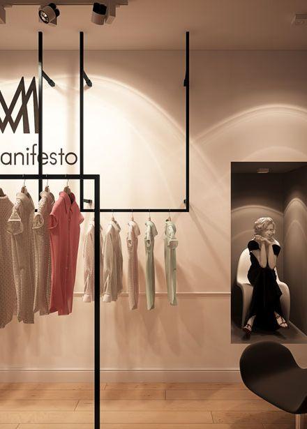 Clothing store design in Katowice POLAND - archi group. Sklep odzieżowy w Katowicach.