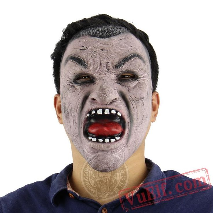 Black Face Man Funny Halloween Masks