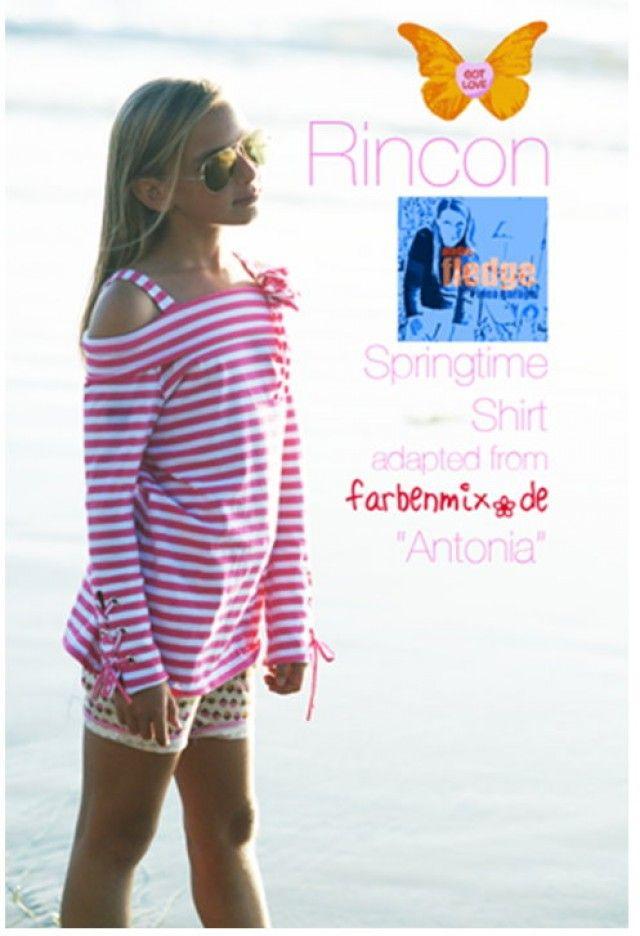 RINCON Springtime Shirt, Ergänzung zu ANTONIA-Schnitt, FREEbook - farbenmix Online-Shop - Schnittmuster, Anleitungen zum Nähen