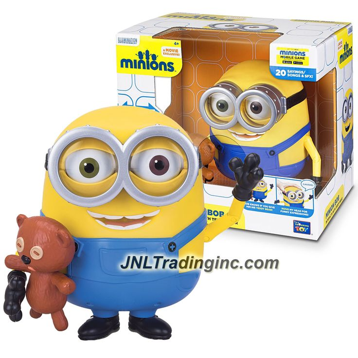 Illumination Entertainment Minions Movie Exclusive 8 Inch Tall Electronic Figure - MINION BOB Interacts with Teddy Bear