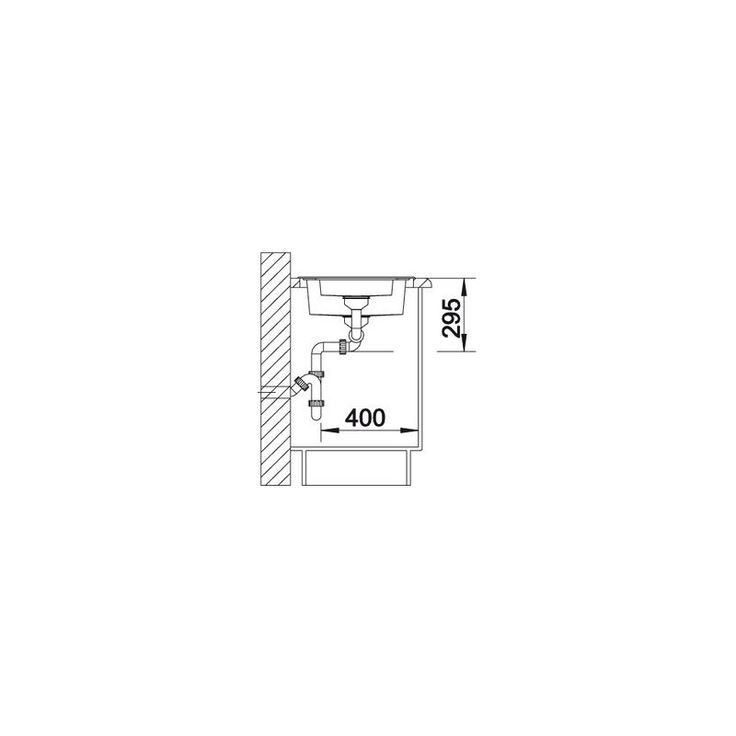 CHIUVETA DE BUCATARIE BLANCO TIPO 6 BASIC FINISAJ INOX, MONTAJ CLASICA PE BLAT CU MARGINE SI PROFIL CONVENTIONAL - Iak