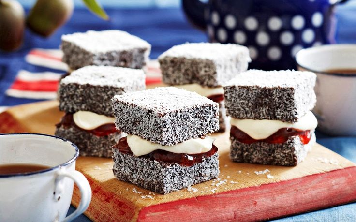Mix up that traditional Aussie treat with some jam and cream. Perfect with a cup of tea or coffee, there's a reason lamingtons are such a staple Australian dessert.