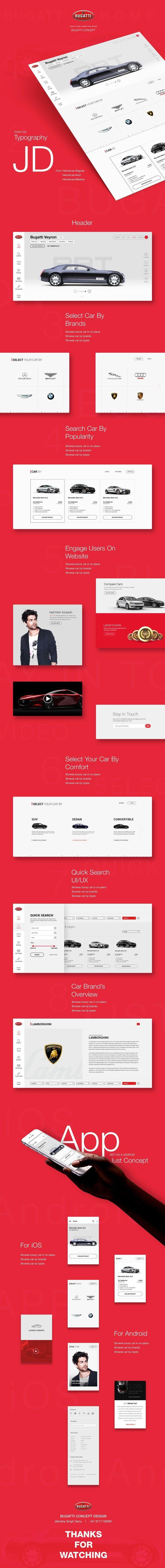 Bugatti Sports Car Manufacturer Web UI/UX by JD Jitendra Singh Danu