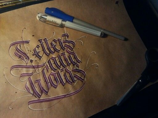 Letters and words.