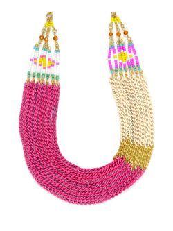 Colier cu lanturi multicolore New spring summer collection necklace