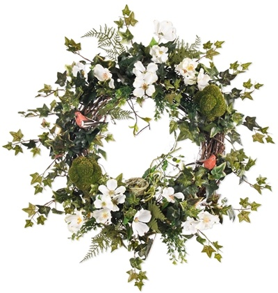 I'm due for a new spring/summer front door wreath.