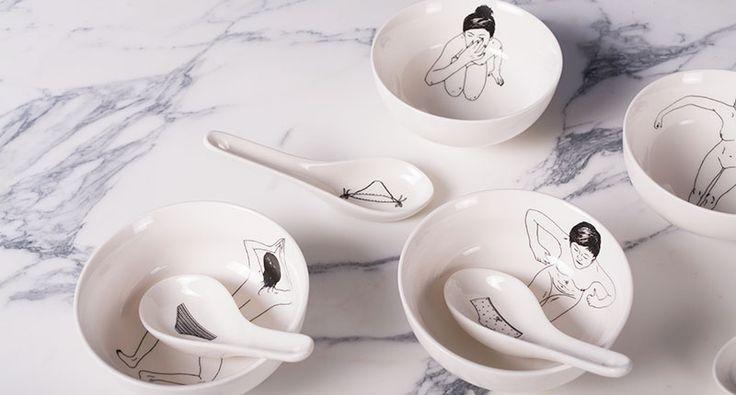 'Undressed' Bowl & Spoon set